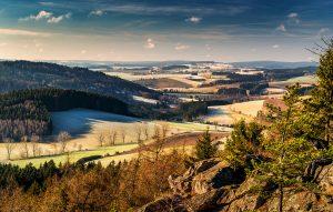 Pohled z Prosícské skály -tipy na výlet v okolí zámku Žďár