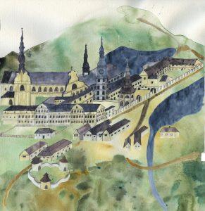 Kresba Zámek Žďár