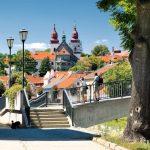 Třebíč - pohled-na-baziliku-sv-prokopa-a-lavku-do-zidovske-ctvrti