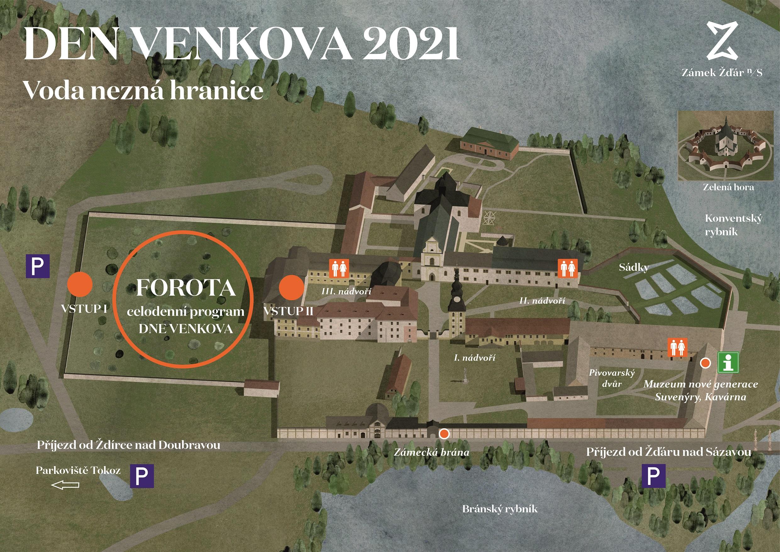 Den venkova 2021 - mapa